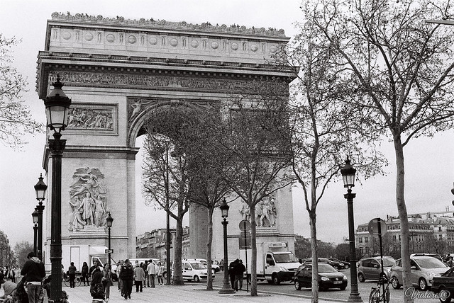 Триумфальная арка. Париж. Arc de triomphe de l'Étoile. Paris. France