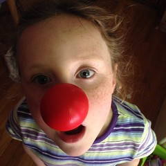 Teagan had fun too!  #goof #rednose #rednoseday @rednoseday