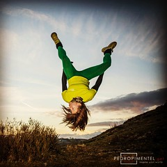Personal trainer and allround athlete Tracy Morris pulling another one of many acrobatic tricks during the Lines of Light Project II. This girl must have been wired upside down!!! Checkout PedroPimentelVisuals on Facebook for many more images and details