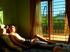 Morning pose