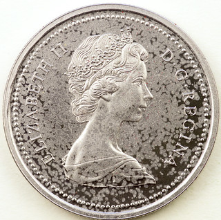 Coin photography - 1973 Canada silver dollar