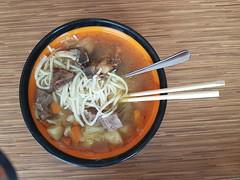 Noodle soup Mongolian style
