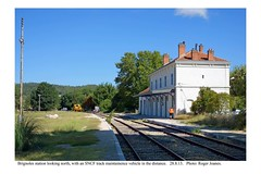 Brignoles station with a track maintainence vehicle. 28.8.13 - Photo of Forcalqueiret