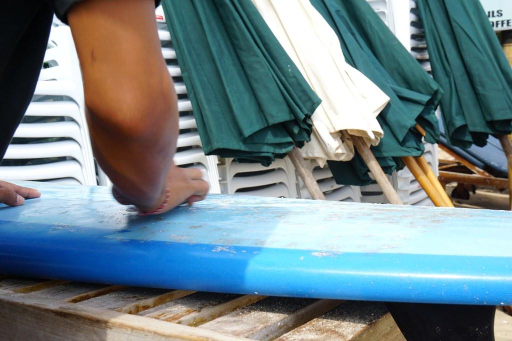 Jimbaran beach - morning - surfing