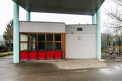 Empty French-Swiss border posts of the Sundgau