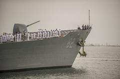 USS Chancellorsville (CG 62) departs Naval Base San Diego, May 28. (U.S. Navy/MC1 Trevor Welsh)