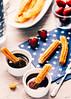 cinnamon sugar churros and chocolate dipping sauces