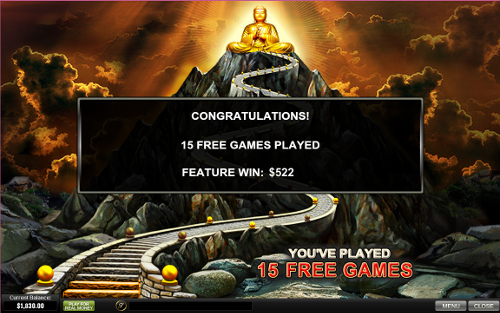 free Thai Temple bonus game prize
