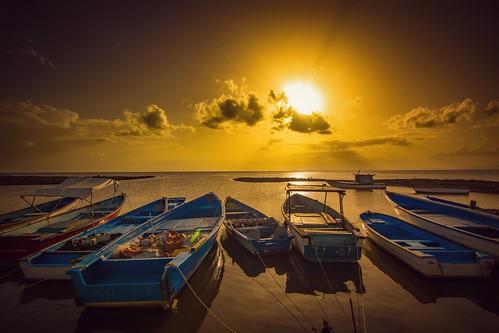 trinidad trinidadandtobago sunset boatyard brickfield sea landscape seascape ocean boats boat sun sky clouds nature nikon d5200 tokina 1116mm