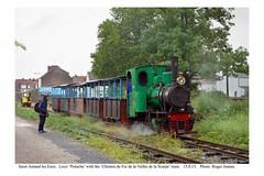 Saint Amand les Eaux. 'Pistache' & train awaiting departure. 15.8.15