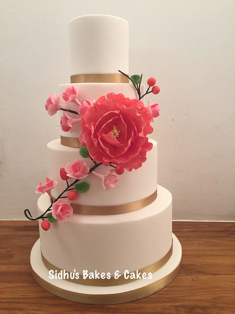 Floral Cake by Sidhu's Bakes & Cakes