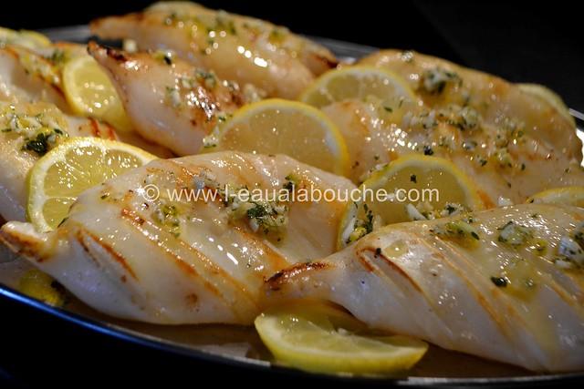 Calamars à la Plancha à l'Ail-Persil & Citron - L'Eau à la