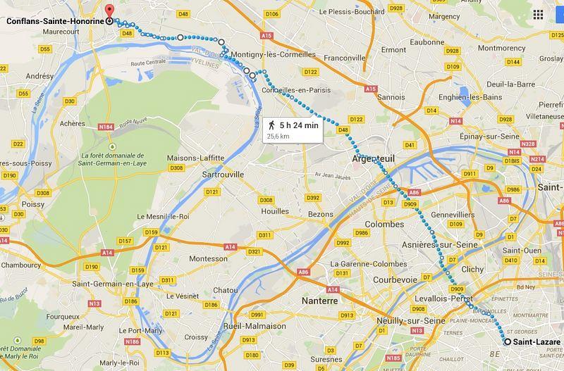 Gare Saint Lazare - Conflans Sainte Honorine [800x600]