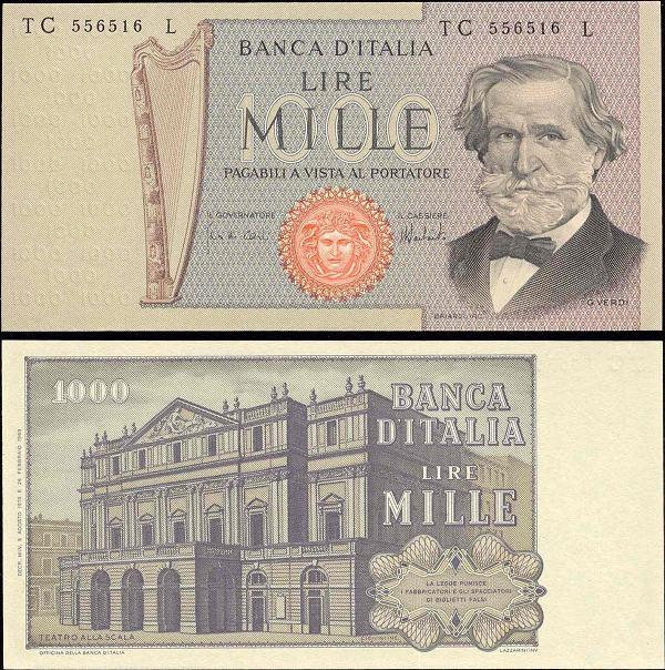 1000 Lír Taliansko 1979