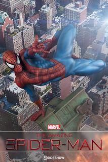 飛越的模樣有夠讚!Sideshow 推出《驚奇蜘蛛人》雕像