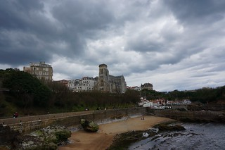 Biarritz on a cloudy day