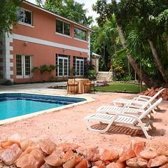 A Himalayan Pink Salt Outdoor Lounge & Pool  #boutique #hotel #himalayansalt #pinksalt #wellness #pool #lounge #outdoor #design #hospitality #bahamas #nassau #resort #landscaping