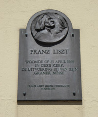 Photo of Franz Liszt black plaque
