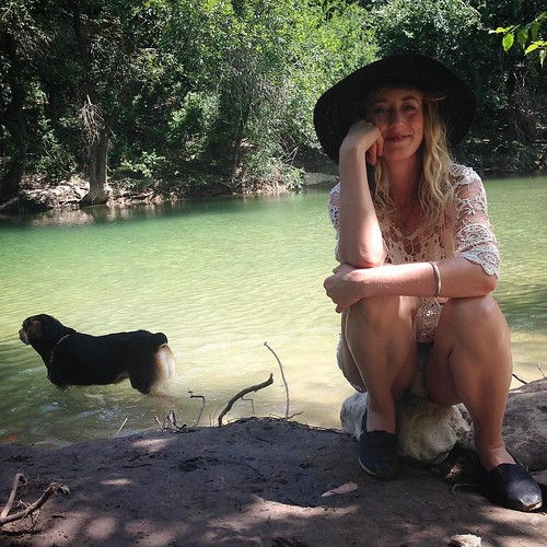 My favorite summer moments have been spent in the company of these two magical beings, down by the water. At least once a week, we try to get our butts down to the greenbelt to savor the sacred springs! It's heaven. (Just don't dump your purse in it, like