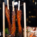 Candied bacon on a clothesline from David Burke Fabirk restaurant