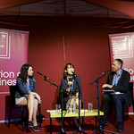 Winning Fiction in Translation | 2016 Man Booker International Prize winners Han Kang (writer) and Deborah Smith (translator) join Man Booker Chair of Judges Boyd Tonkin to interrogate the winning novel © Helen Jones