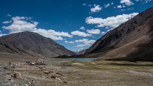 boating ladakh mountains pond