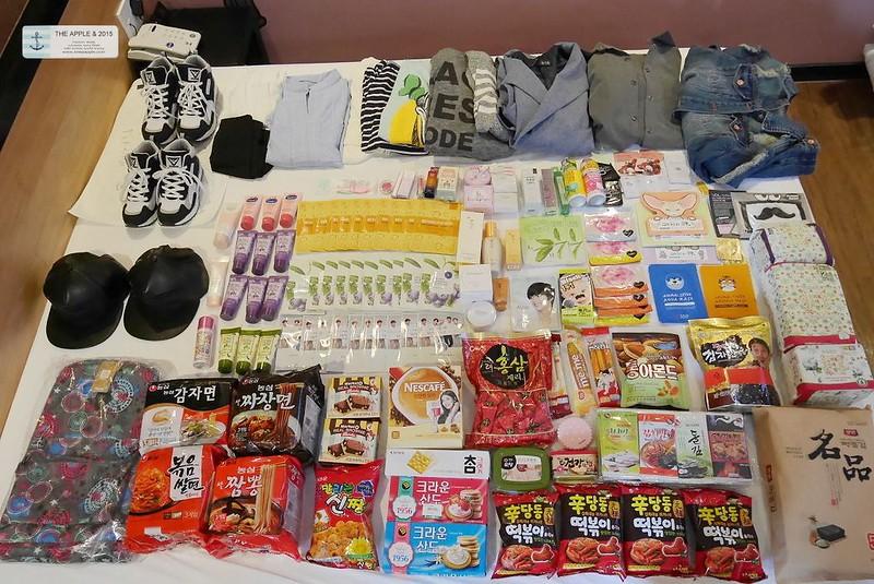 【旅行+敗家】不小心也是給他買了一堆。我的釜山滿床戰利品來也!