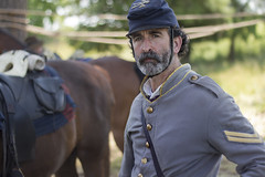Colonial National Historical Park Yorktown Va. Virginia Battlefield Civil War Reenactment cavalry horses