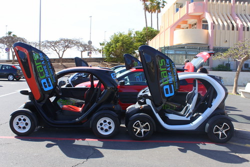 Twizy electric cars in Tenerife