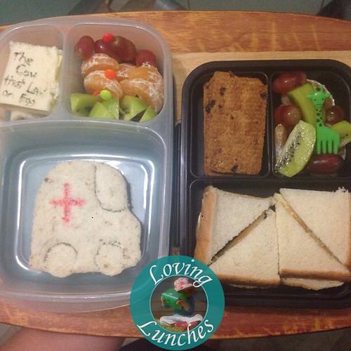 Loving marching lunches for the girls tomorrow… Miss M is off on a school excursion around town. Can you guess where they will be going? Honey has a snack lunchbox too 😃