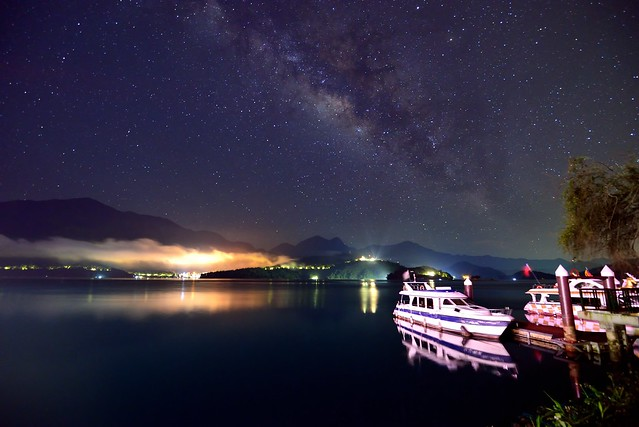 Starry night at Sun Moon Lake 明潭星空