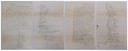 """<p>On July 25 1870 Wairarapa chief Tikawenga wrote a letter on behalf of the chiefs of the lower North Island to other North Island chiefs requesting that Māori not kill each other in wars which were to their detriment. He requested that Māori unite in order to derive some advantage from the struggle they faced in colonial wars. Tikawenga Te Tau was a leading chief of Ngai Tumapuhiarangi. In 1860 Tikawenga initiated a major peace expedition to the trouble spots of Taranaki, Waikato and Hawke's Bay.<br /> <br /> The letter (in Māori with English translation provided) was sent to Major Wahawaha Ropata. Ropata (of Ngāti Porou descent) was one of the leading Kūpapa, a Māori who was loyal to the British Monarchy and fought alongside the British in the New Zealand Wars. The letter from Tikawenga was forwarded to Donald McLean, Agent for the General Government - Hawke's Bay, who coordinated civil and military action in the area during the New Zealand Wars. The accompanying letter (shown here, <a href=""""https://www.flickr.com/photos/archivesnz/28366235471/in/dateposted/"""">www.flickr.com/photos/archivesnz/28366235471/in/dateposted/</a>) by Ropata rejected the offer from Tikawenga and stated that Ngāti Porou would not agree to this evil talk. <br /> <br /> Reference:<br /> ACFK 8163 AGG-HB1 4/5 (R16640167)<br /> <br /> To enquire about this record, please email research.archives@dia.govt.nz   <br /> <br /> For updates on our On This Day series and news from Archives New Zealand, follow us on Twitter <a href=""""http://www.twitter.com/ArchivesNZ"""" rel=""""nofollow"""">www.twitter.com/ArchivesNZ</a>  <br /> <br /> Material from Archives New Zealand</p>"""