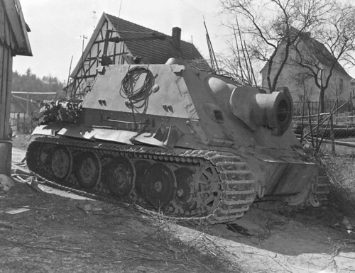 Sturmtiger captured by the USA at Drolshagen on the  11th April 1945