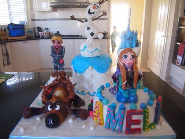 Frozen Inspired Cake by Chariklia Calpakos