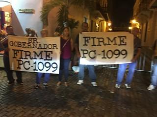 Image of Viejo San Juan. puertorico sanjuan protest viejo old political pc1099 firme sign