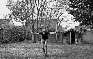 crazy in the garden (B & W version)