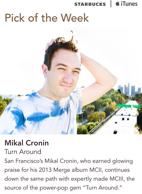 Starbucks iTunes Pick of the Week - Mikal Cronin - Turn Around