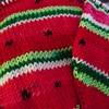 Watermelon socks. Loving the yarn. The texture is smooth, soft but strong too.
