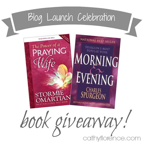 Cathy Florence.com Blog Launch Book Giveaway!  Click to enter!