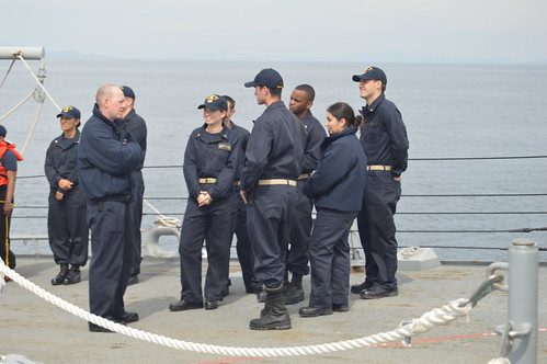 PACIFIC NORTHWEST, WASHINGTON – 16 midshipmen from various Naval Reserve Officer Training Corps (NROTC) units and the United States Naval Academy are currently embarked on USS SHOUP (DDG 86) as part of their summer training.