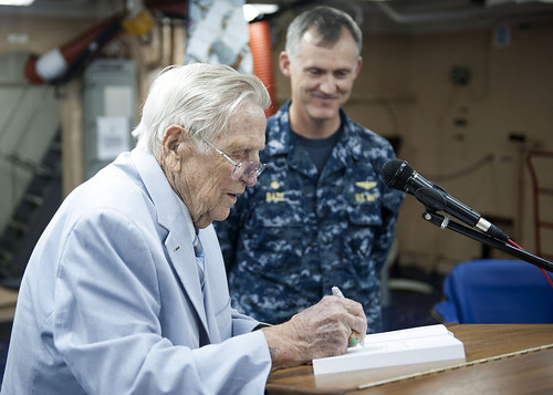 Hornet Plankowner Visits America to Speak on Battle of Midway