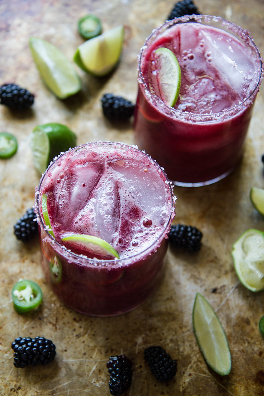 Blackberry Jalapeno Margarita