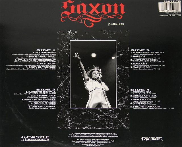SAXON ANTHOLOGY 2LP NWOBHM