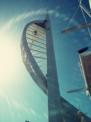Lunch date with the missus below the Spinnaker Tower