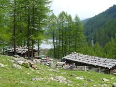 Ankunft an der Weissbrunner Almhütte