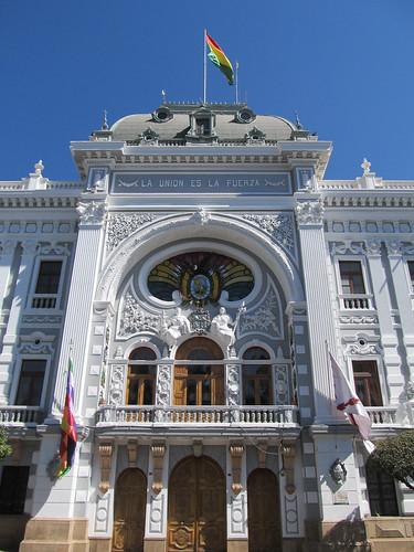 Sucre: la Plaza 25 de Mayo et la préfecture