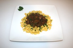 41 - Swabian sweet sour dark beer goulash - Served…