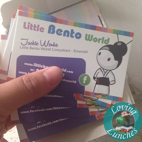 Loving mail… my new business cards!!! Interested in booking a Little Bento World in home demonstration? Email me jackie@littlebentoworld.com !  #LittleBentoWorld #squee