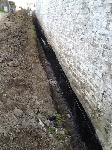 Étanchéité mur contre terre