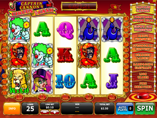 Captain Cannon's Circus of Cash slot game online review